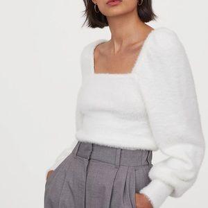 H&M Puff Sleeve Fluffy Sweater